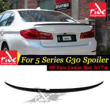 G30 M5 Style Carbon Fiber Deck Lid Spoiler Wing for BMW 5 Series 530i 540i Auto Car Accessories Rear Trunk 2017-2018
