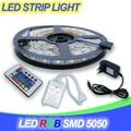 Tira CONDUZIDA RGB 60D/m SMD5050 300LED IP20 IP65 IR Receptor de Controle Remoto DC12V 2A Adaptador de Energia tira RGB a lâmpada de luz