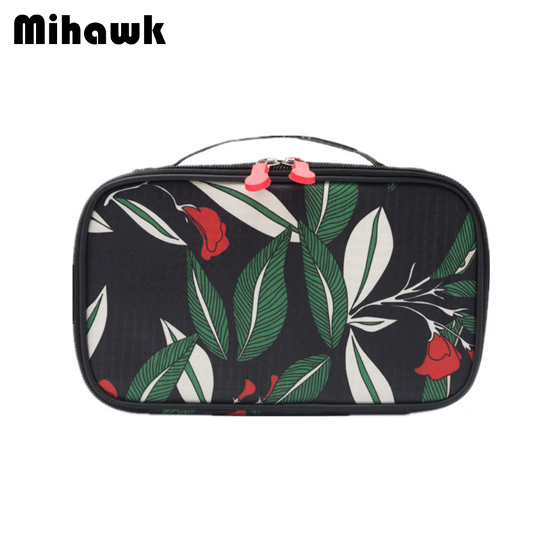 Mihawk Women's Cosmetic Bag Travel Organizer Functional Makeup Pouch Vanity Case Beautician Toiletry Pouch Accessories Supplies mihawk women s fashion animal portable handbags shoulder pouch messenger pouch storage belongings organizer accessories products