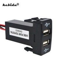 Kebidu – chargeur de voiture double USB, adaptateur d'alimentation pour fusible, chargeur de téléphone portable, 2 ports, tableau de bord pour TOYOTA VIGO