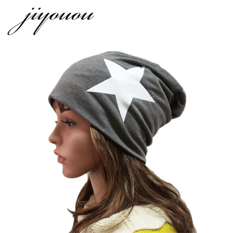 New winter women's hooded cap, the flag five-pointed star pattern, autumn and winter warm wool hat red black cap ear cap