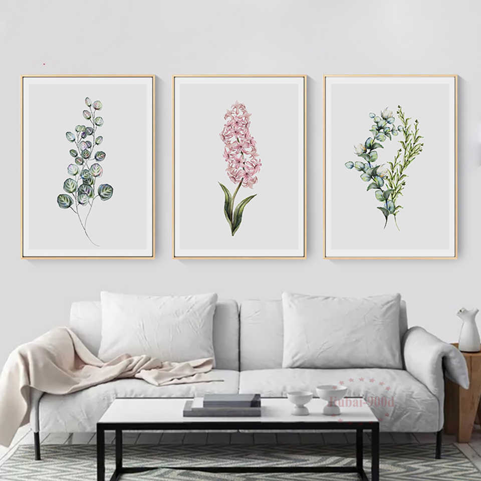 Home Decor Prints Painting Nordic Fresh Colored Lavender Pictures Wall Art Modular Canvas Poster Modern Bedside Background