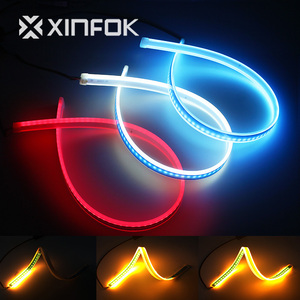 Waterproof Sequential Flow Turn Signal Car LED DRL White Red Ice-blue Daylight Daytime Running Lights