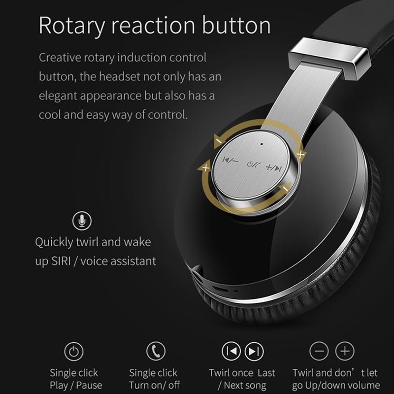 T9 casque Bluetooth réduction de bruit Active casque sans fil Portable et musique avec commande vocale - 4