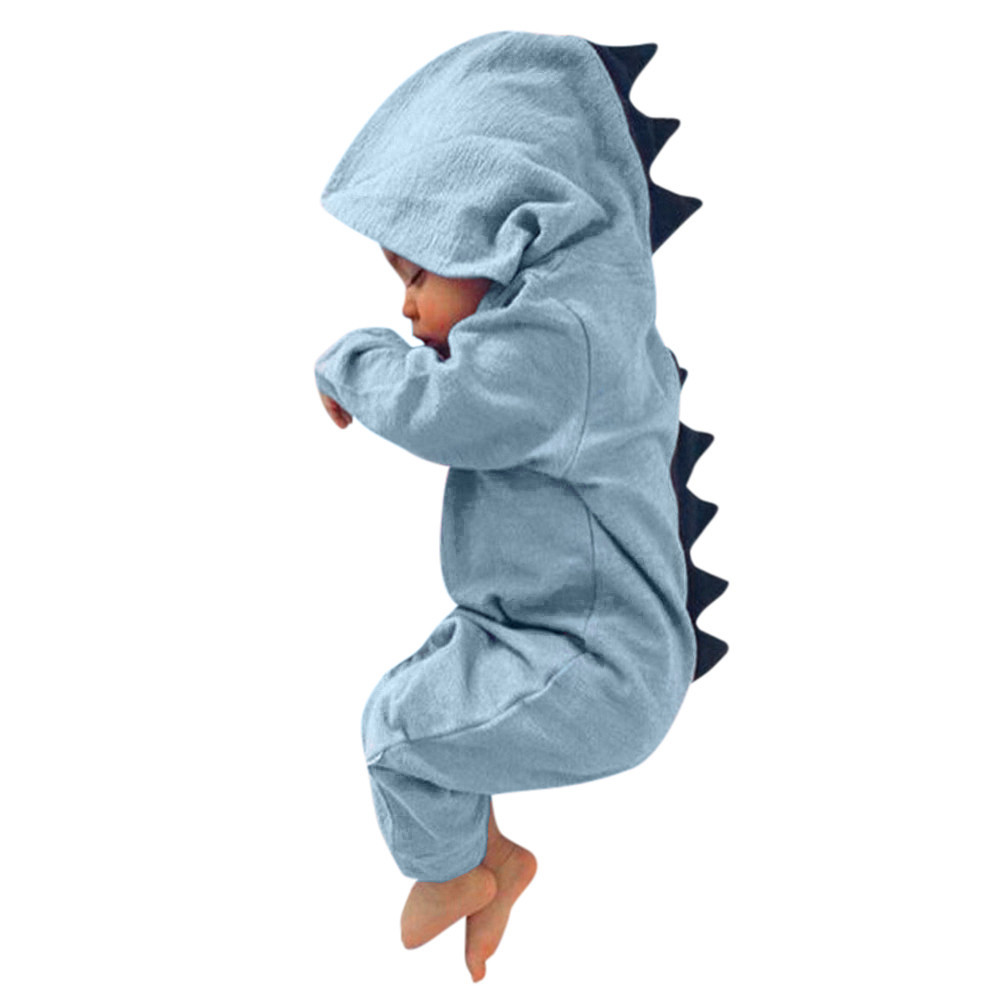 Newborn Infant baby clothes Boy Girl Dinosaur Hooded Romper Jumpsuit Outfits Clothes Newborn baby Romper jumpsuit baby dinosaur romper