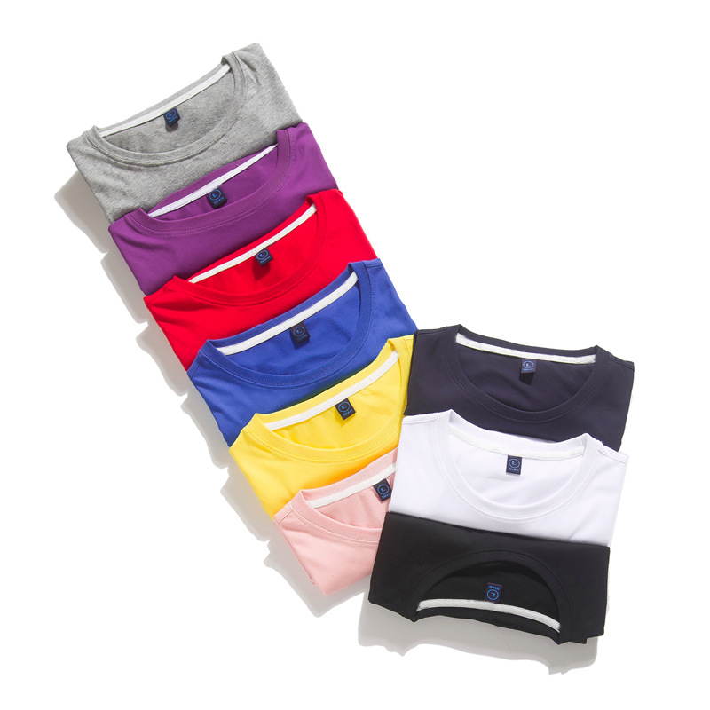 2019  New Men's Cotton T Shirt Solid Colors T-Shirt Top Fashion Tshirt Men's Tee 9 Colors 3XL