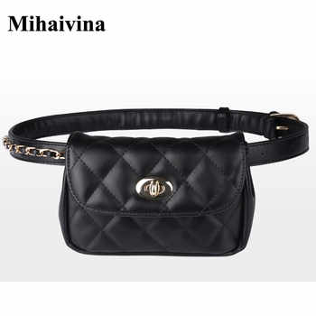 Mihaivina Fashion Leather Waist Bag Women Fanny Chest Bag Pack Femal Plaid Belt Bags Hip Money Travel Phone Pouch Bags - DISCOUNT ITEM  59% OFF All Category