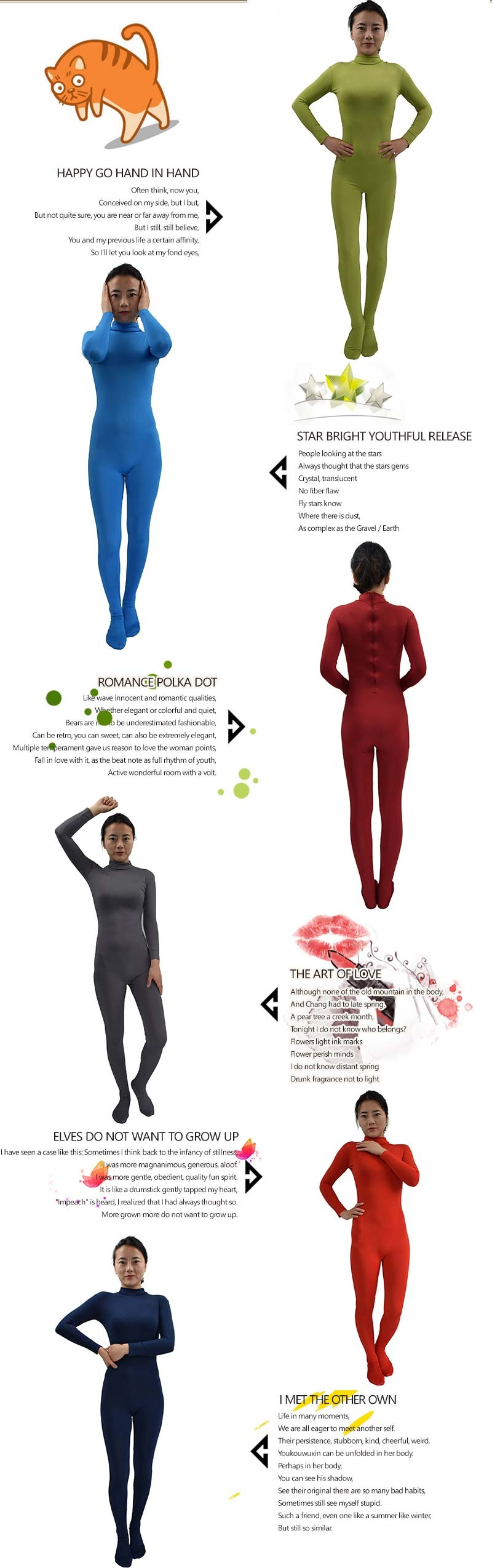 Ensnovo Body Suits for Women Long Sleeve Turleneck Unitard Lycra Bodysuit Nylon Custom Skin Footed Costumes Full Body Tights 7
