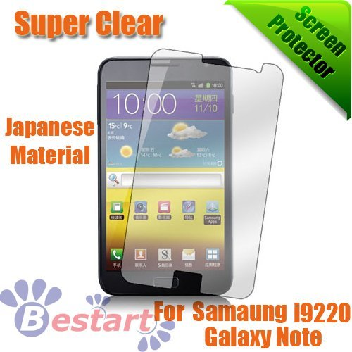 Free DHL, 200Pcs/Lot, For Samsung Galaxy Note i9220 Screen protector, Super Clear screen protector With Retail Package, Good