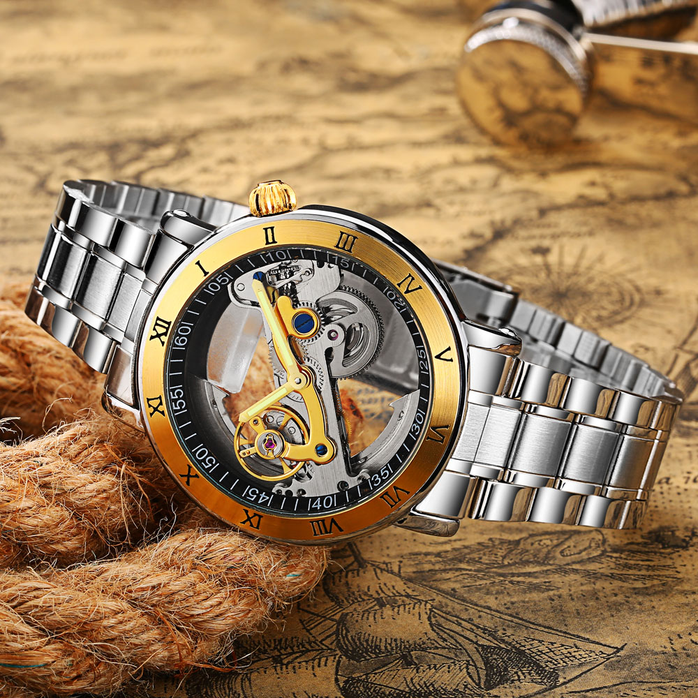 Fashion Top Mechanical Watch Men Unique Transparent Hollow Automatic Self Wind Watches Men Stainless Steel Tourbillon WatchesFashion Top Mechanical Watch Men Unique Transparent Hollow Automatic Self Wind Watches Men Stainless Steel Tourbillon Watches
