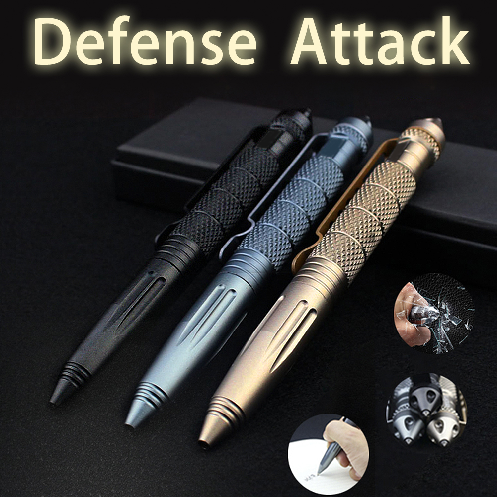 Multifunktions Mini Portable Anti-Skid Selvforsvar Tactical Pen Outdoor Sports Camping Vandreture Rejser defensa personlige værktøjer