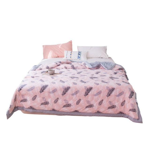 Thin Lightweight Blankets Bedding Quilt Air Conditioner For Two People In Summer, Machine Washable