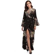 3dcc775d236 Maxi Vestidos Para As Mulheres Vestido Elegante Para O Partido Bonito  Vestidos Kaftan Barato Boho Chique