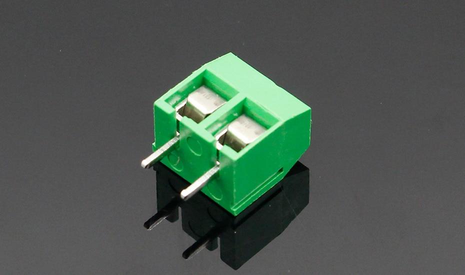 HTB1CdfqnHSYBuNjSspiq6xNzpXa8 - 20PCS/LOT KF301-2P KF301-5.0-2P KF301 Screw 2Pin 5.0mm Straight Pin PCB Screw Terminal Block Connector Blue and green