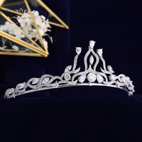 High Quality SilverTiaras Headpieces for Brides Zircon Crystal Bridal Crowns Pearls Wedding Hairbands Evening Hair Accessories