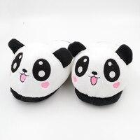 Millffy/милые плюшевые домашние тапочки в виде милой панды; забавные тапочки для взрослых; тапочки-панды; домашняя обувь; Милая домашняя обувь