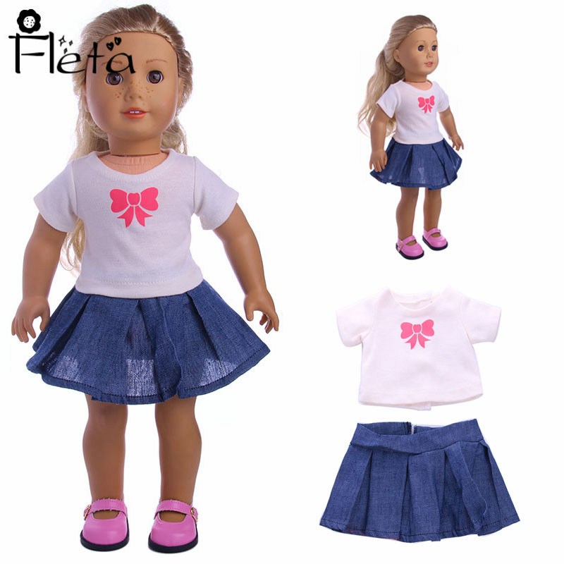 Dolls Accessories 18 Inch  Doll T-shirt For Kids Gifts BE