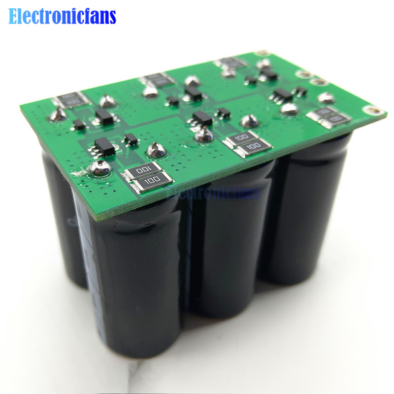 16V 20F Farad Capacitors 2.7V 120F 6Pcs Automotive Rectifier Starter Filter Super Capacitor With Protection Board New