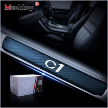 Car Door Sill For Citroen C1 Auto Part Threshold Plate Entry Guard  Scuff Car-styling 4Pcs