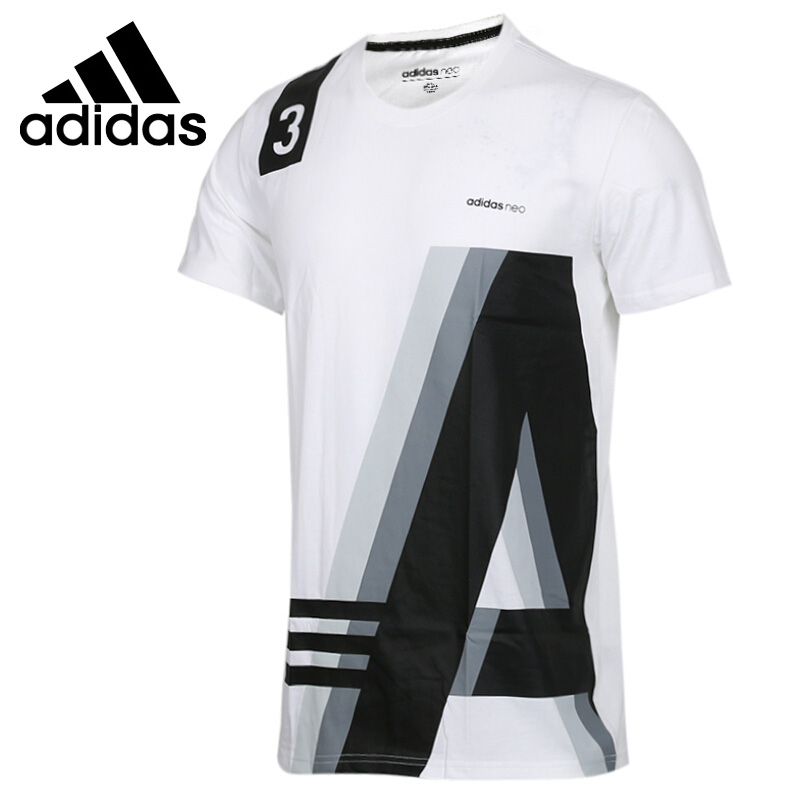 Original New Arrival  Adidas Neo Label M FAV TEE 1 Men's T shirts short sleeve Sportswear-in Skateboarding T-Shirts from Sports & Entertainment    1