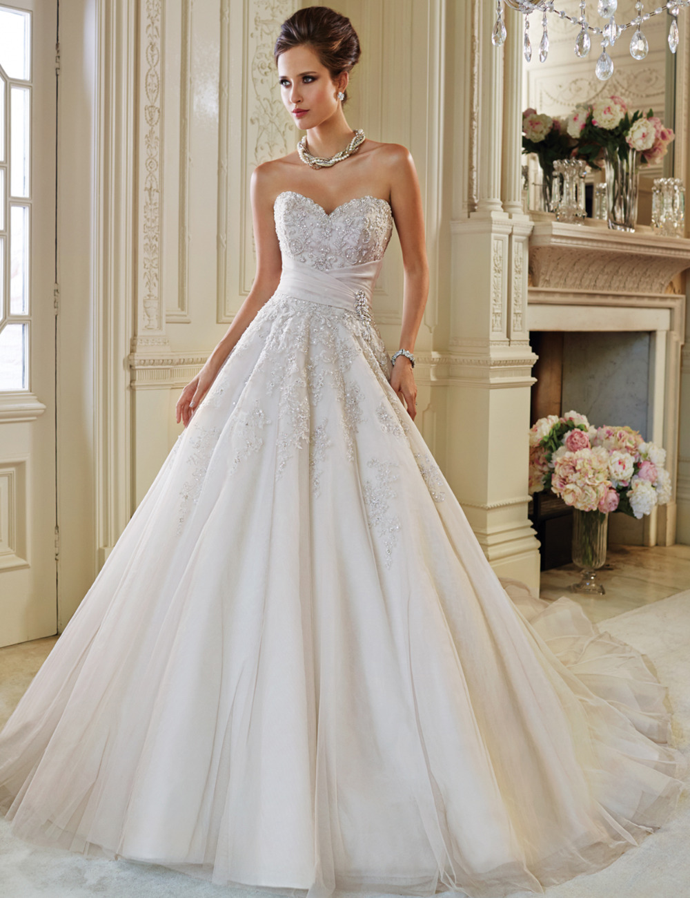 Compare prices on sleeveless lace top wedding dress online princess a line wedding dresses bling top beaded sweetheart gorgeous bride dress for wedding l212 ombrellifo Gallery