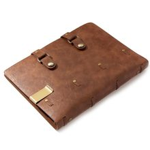 Classic Retro Notebook Leather Blank Diary Note Book Journal Sketchbook planner school office supply brown refillable pages