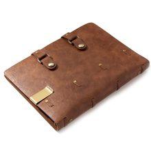 Klasyczny notatnik Retro skórzany pusty pamiętnik zeszyt dziennik Sketchbook planner szkolne materiały biurowe brązowe strony wielokrotnego napełniania