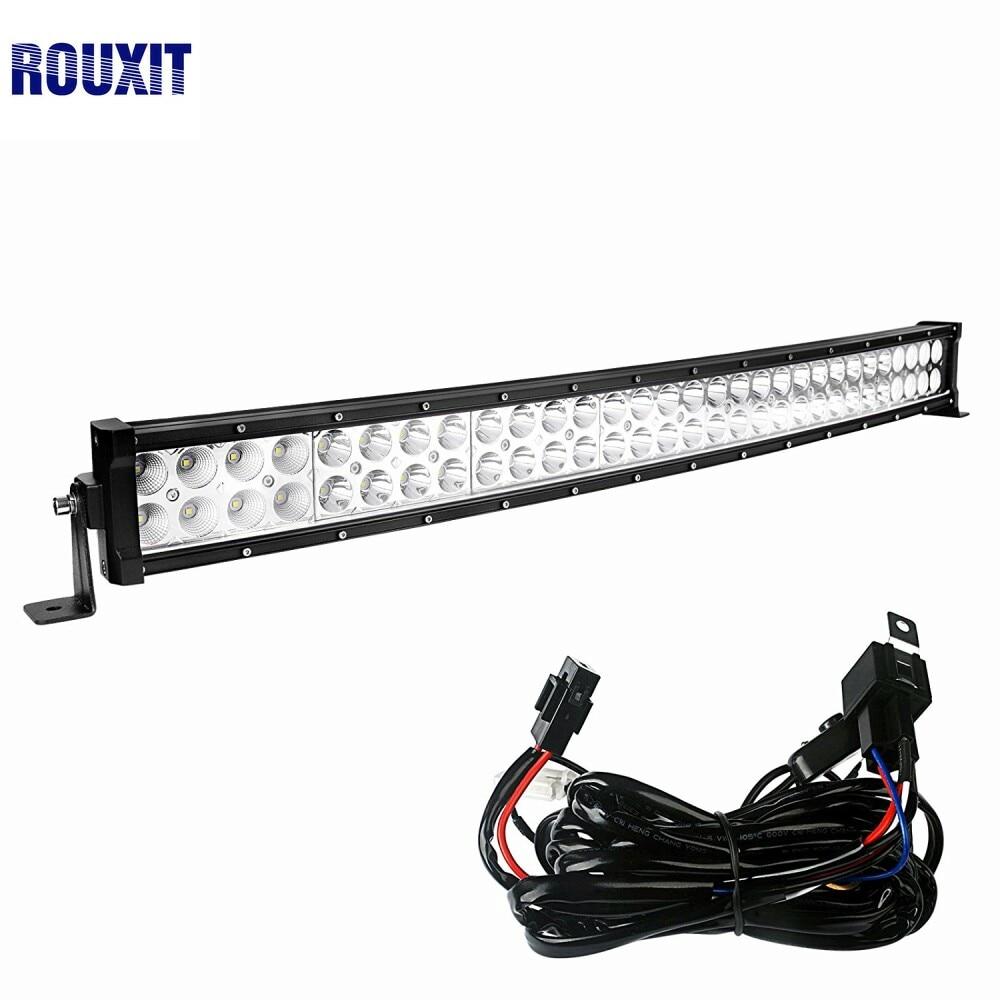 180W 32 inch 18000lms combo Beam driving light led car 4x4 offroad LED Light Bar work light 12v 24V wiring harness