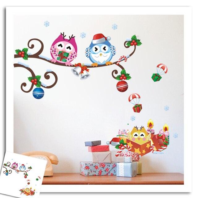 Weihnachten Eulen Geschenke Balloons Wandaufkleber Aufkleber
