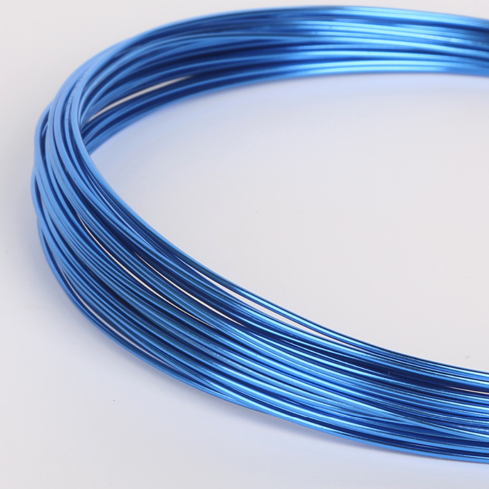 Anodized Aluminum Versatile Painted Blue Metal Round Wire Soft DIY ...