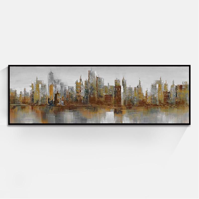 ᗛpas Cher Prix Abstrait Ville Paysage Peintures à L Huile D