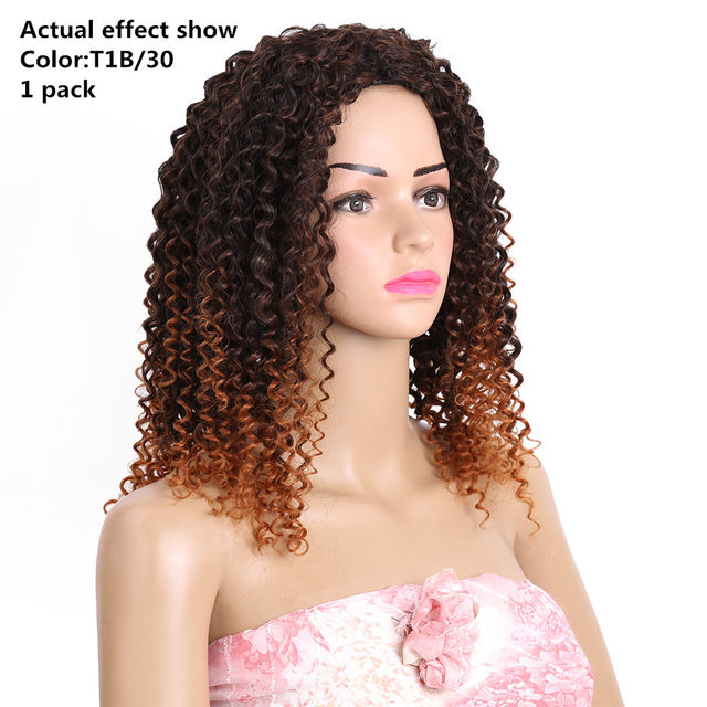 Online Shop 14 18inch Ombre Burgundy Blonde Synthetic Weave Curly