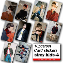 10pcs/set Stray kids KPOP photo cards stickers album sticky adshesive kpop Stray kids lomo card photocard sticker SKD00604 купить недорого в Москве