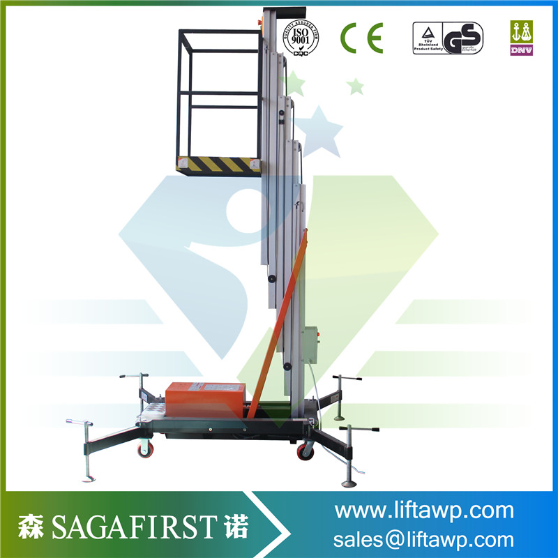 Electric Hydraulic Aluminum Ladder Mobile Lift Table