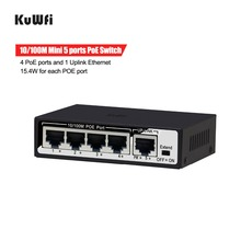 5 Port 10/100Mbps Switch Plug And Play With IEEE 802.3af Power 4 POE Ports and 1 Uplink Ethernet Support Extend 250m 9 ports switch 4 poe 15 4w per port 4 ethernet 1 fiber ieee802 3af 1 6gbps bandwidth