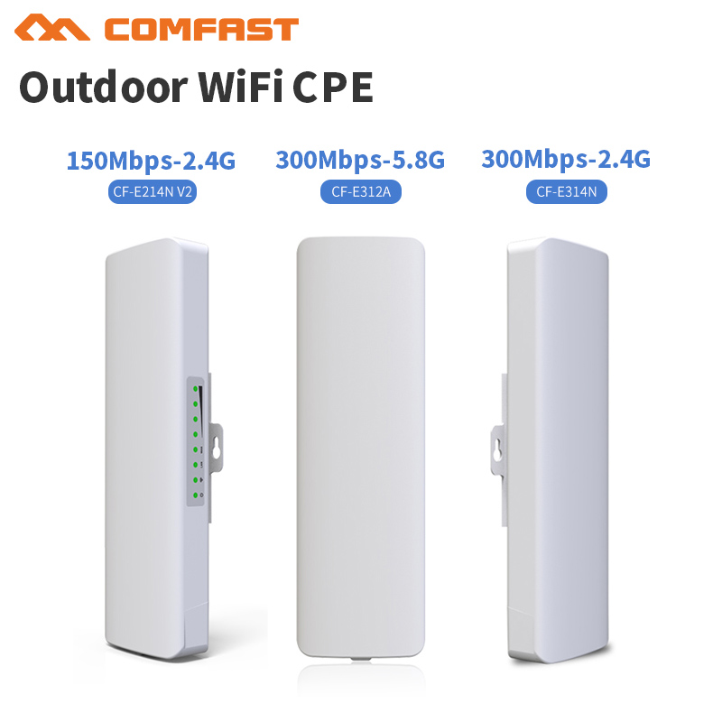 150-300Mbps Router Bridge WiFi Router 2.4/5.8Ghz Outdoor CPE Wireless Repeater Outdoor WiFi Repeater Long Range IP Cam Project