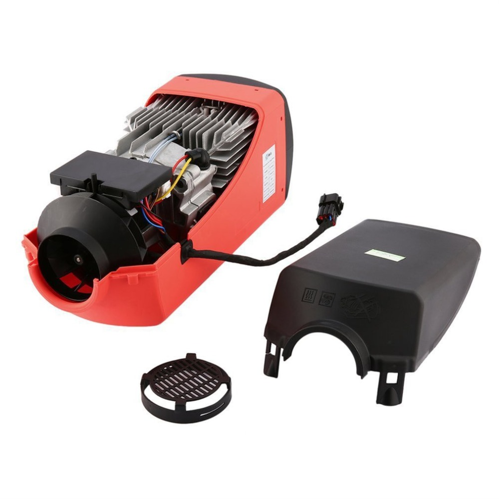 12V 2000W Diesel Air Heater Parking Heater Muffler with Single-hole Switch and Muffler For Tank Vent Duct Thermostat Caravan