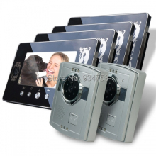 2V4 7 Inch TFT Digital Color Hands-free LCD Monitor 1/3 CMOS Night Vision Camera Video Door Phone