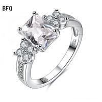 AEM 925 Sterling Argent Fleurs Anneaux Éblouissant Diamant Anneau De Mariage Des Femmes Bijoux Vintage Style Princesse Livraison Gratuite