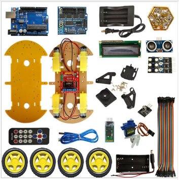 UNO робот автомобильный комплект Bluetooth шасси костюм отслеживание совместим UNO R3 DIY RC электронная игрушка робот