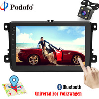 Podofo Car Radio Player GPS Navigation 8 Bluetooth Car Audio USB Android 6 0 Touch Screen