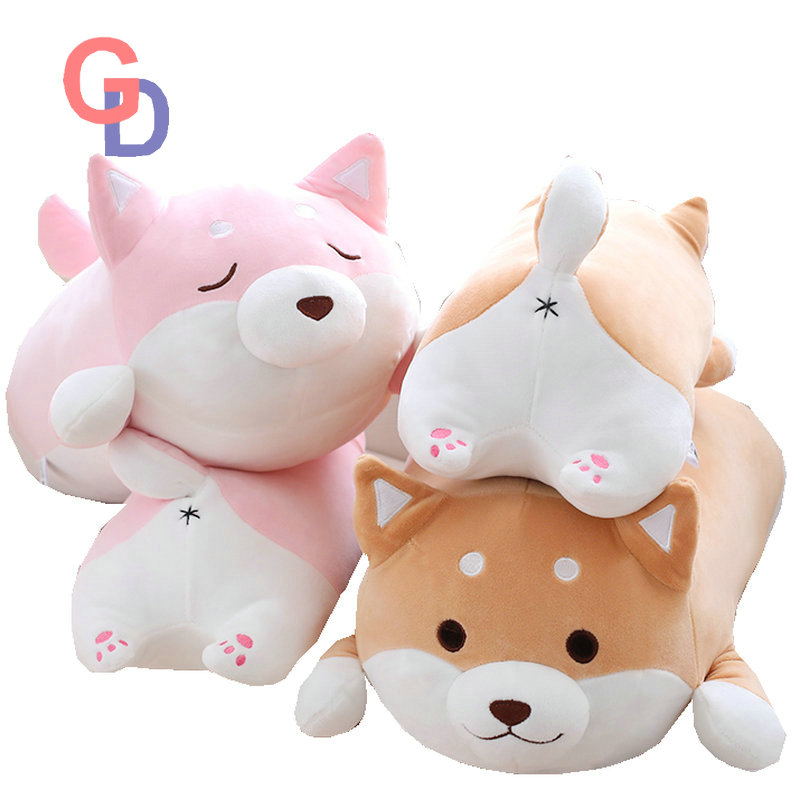36cm Cute Fat Shiba Inu Dog Plush Toy Stuffed Soft Kawaii Animal Cartoon Pillow Lovely Gift for Kids Baby Children Good Quality 68cm kawaii bull terrier dog plush kids toy emoji sleeping pillow toy cute soft baby toys stuffed dolls for children girl gifts