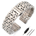 Correa de reloj de Pulsera de Acero inoxidable de 20mm 22mm Accesorios Relojes de Hombres Reloj de Correa de La Banda de Metal Pulido