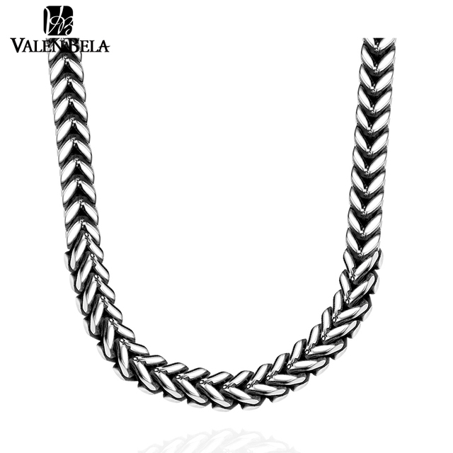 VALEN BELA Wheat Design Men Fine Quality 316L Stainless Steel Chain 22inch Necklace For Man Indian Jewelry Punk Gift XL1683