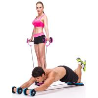 Multifunctional Muscle Exercise Equipment Home Fitness Double Wheel Abdominal Power Wheel Ab Roller Gym Roller Trainer
