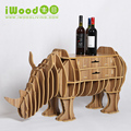 Continental rhino modeling drawer racks creative home decoration ornaments crafts wooden shelves home decor desk table rack