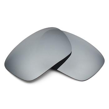 2 Pairs Mryok POLARIZED Replacement Lenses for Oakley Badman Sunglasses Stealth Black & Silver Titanium