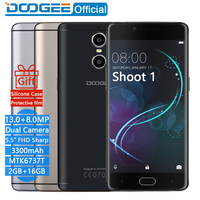 2 Back Cameras Doogee Shoot 1 Fingerprint 5 5Inch FHD 2GB 16GB LTE Mobile Phones Android