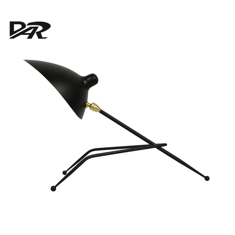 Creative Art Deco Table Lamp Black/White Iron Lampshade Nordic Industrial Loft LED Desk Lamp Abajur Para Quarto бюстгальтер 2015 intimates sutian abajur para quarto
