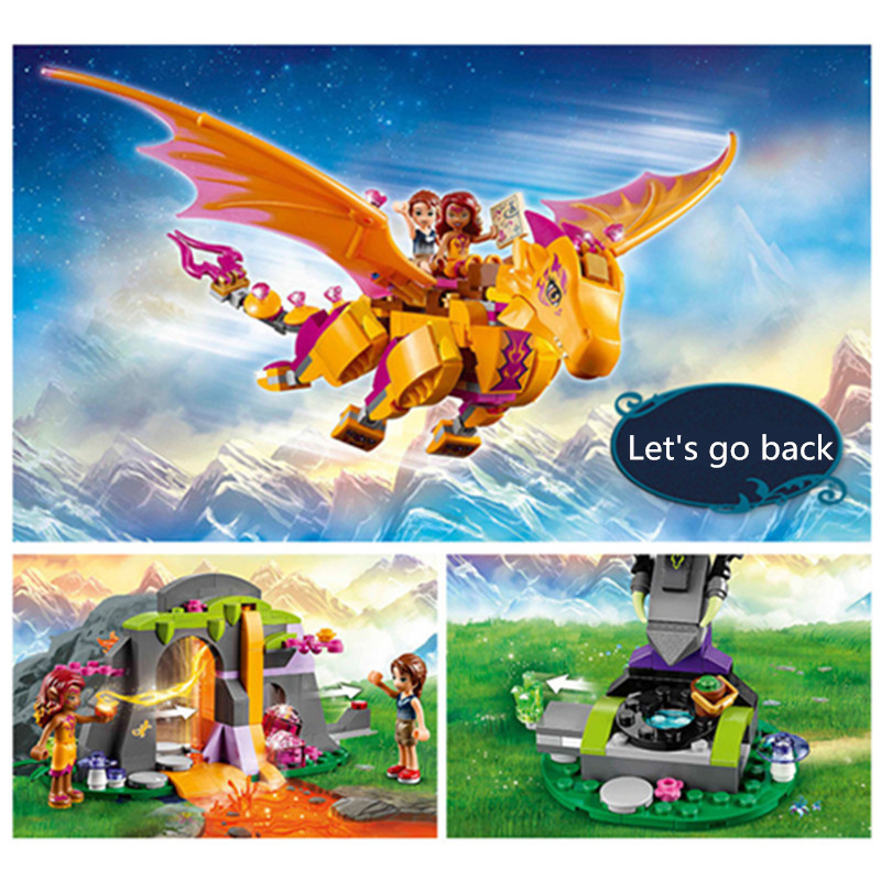 Bela 10503 Elves Azari The Magical Bakery Fire Dragon Building Blocks Girls Princess Fairy Compatible With Legoingly Gift сцепка целина 10503